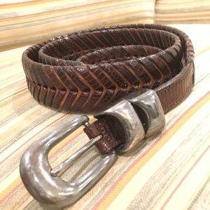 Vintage Cale Braided Belt ✨Genuine Lizard Skin✨